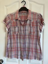 CHEROKEE BLOUSE MUTI COLOUR BUTTON FRONT, TWO FRONT POCKET SIZE 16
