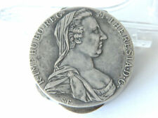 1780 Maria Theresa Silver Coin made into Round Hinged Box S.F. Austria Numismati
