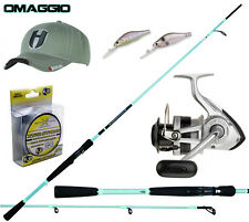 KP3909 Kit Pesca Spinning Canna Enigma Mulinello Sweepfire Filo Cappellino PPG