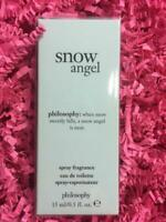 PHILOSOPHY Snow Angel EDT Spray Perfume .5oz/15mL - NEW/Sealed in Box, FREE SHIP