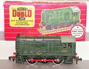 Hornby Dublo 2231 2-rail Diesel Electric Shunter Locomotive D3302 Used Boxed