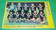RARE FOOTBALL 1977 1978 GIRONDINS BORDEAUX PARC LESCURE MARINES CLIPPING
