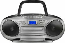 Insignia CD/Cassette Boombox with AM/FM Radio Black/Gray NS-BCDCAS1