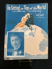 """1925 SHEET MUSIC """"I'M SITTING ON TOP OF THE WORLD"""""""