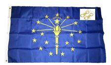 3x5 Embroidered State of Indiana 220D Sewn Nylon Flag 3'x5' w/ 2 clips