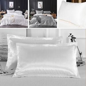 Silk Pillowcase Satin Soft 100% Mulberry Pure Standard Pillow Covers Bedding