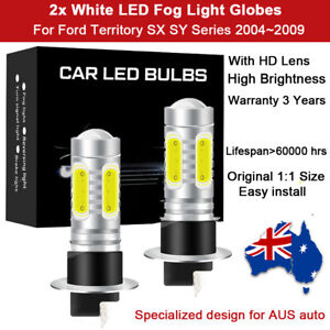 For Ford Territory SX SY 2005 2006 2x Fog Light Globes 8000LM LED Bulb White Kit