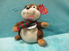 BNWT 2008 TY Beanie Babies 2.0 - Yule Chipmunk XMAS - Soft Plush Stuffed Toy