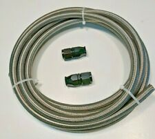 -10 AN x 10' feet Stainless Steel Braided Fuel Hose Kit PTFE Lined 10AN AN10