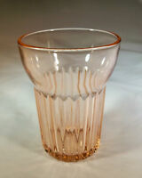 ANCHOR HOCKING GLASS CO. QUEEN MARY PINK 5-OUNCE FLAT JUICE TUMBLER!