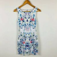Forever New Womens Dress Size 6 Floral Cocktail Dress Gorgeous Design Stretchy