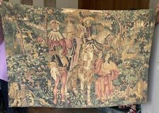Antique French Aubusson Style Wall Hanging Tapestry - 130 X 180 Cm