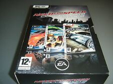 Need for Speed: Collectors Edition NFS Underground 1 2 & Most Wanted Comme neuf RARE