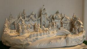 "Winterhaus ""LED"" Haus Weihnachten Deko Winterlandschaft Winter 21*44,5*22,5 cm"