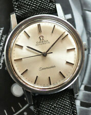 Vintage Omega Automatic Seamaster Watch Beautiful Silver Dial Caliber 552 Runs +