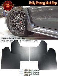 """15""""x11.5"""" 4 Pcs Black Rally Racing Flexible Mud Flaps Splash Guard Fit BMW MINI"""