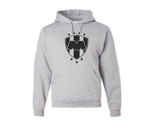 Club Monterrey Rayados  Gray pullover Hoodie Mens
