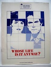 WHOSE LIFE IS IT ANYWAY? Large Program LUCIE ARNAZ / LAURENCE LUCKINBILL LA 1980