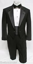 41 R Karl Lagerfeld Mens Black Full Dress Tuxedo Tailcoat Tux Tails Coat Wedding
