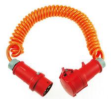 as Schwabe Starkstrom BQ Spiralleitung Spiralkabel Verlängerungskabel Kabel NEU
