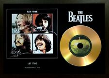 THE BEATLES 'LET IT BE' SIGNED PHOTOGRAPH GOLD CD DISC COLLECTABLE MEMORABILIA