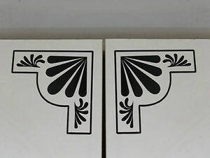 Pair of Art Deco Style Corner Wall Stickers/Decals Decoration (25-04)
