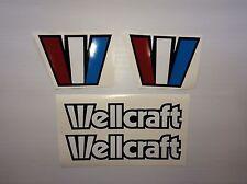 WELLCRAFT BOAT DECALS Marine Vinyl  each 20 inch wide old school style