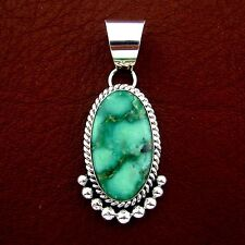 Pendant - P56 B T Native American Made Sterling Silver Turquoise