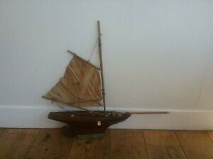Vintage model sailing yacht 1920s 1930s