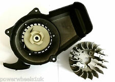 PU022 EASY PULL START & FLY WHEEL MINI MOTO / DIRT BIKE METAL CASING PLASTIC COG