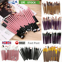 20X Make Up Brushes Set Eyeshadow Eyeliner Lip Powder Foundation Blusher Gift
