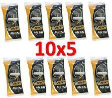 50 BIC METAL Mens Einwegrasierer (10 Packs of 5 Shavers) Versand kostenfrei