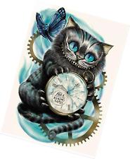 AIRDEA DIY 5D Diamond Painting by Number Kit, Cat Clock Crystal Rhinestone Embro
