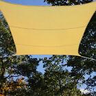 Beige Mesh Sun Shade Sail Canopy Square 13' x 13' Foot UV Outdoor Patio Backyard