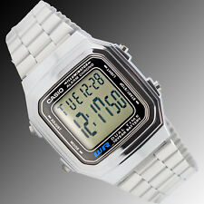 Casio A-178WA-1AV Watch Steel 10 Year Battery Multi-Function Alarm Dual Time New