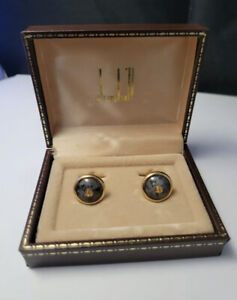 Vintage Dunhill Cufflinks gold plated Boxed
