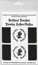 Kennzeichen-Aufkleber Freistaat Preußen Provinz Hessen Nassau