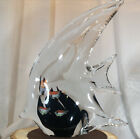 Vintage Angel Fish with Encase Fish Murano Large Art Glass Sculpture Rare