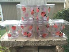 NEW Lot of 6 kate spade new york Strawberries Drinkware - 12 oz Acrylic Tumblers