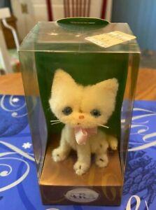 Vintage ARA Wool Cat in Box - White