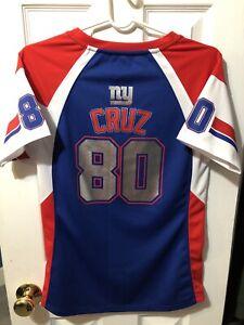 Victor Cruz New York Giants Majestic Fan Fashion Women's Shirt Size Medium