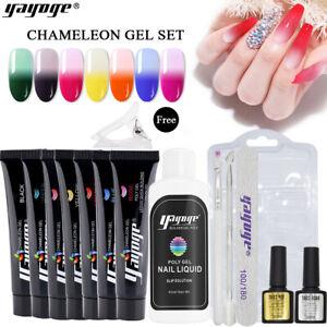 Nagelverlängerungs-Kit 15ml Poly Gel Set Gel Nagellack Nail Builder Kit 7 Farbe