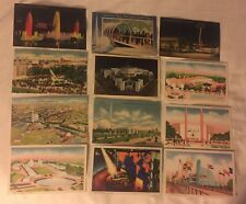 LOT OF 28 POSTCARDS 1939 WORLDS FAIR NEW YORK CITY LINEN COLOR