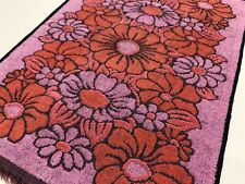 Callaway MILLIKEN Orange & Purple Floral Vintage Terry Cloth Hand Towel (RF1061)