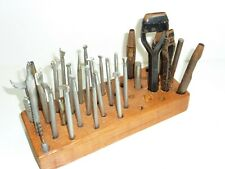 Craftool and CS Osborne Vintage Leather Carving Set Stamps 25+ Pcs