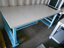 """36"""" X 72"""" X 34.5"""" TALL LAMINATED TOP LAB WORK TABLE/BENCH ON CASTORS WITH DRAWER"""