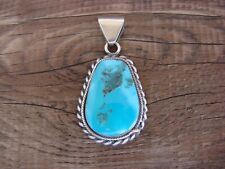 Navajo Jewelry Sterling Silver Turquoise Pendant by Sharon McCarthy