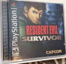 Resident Evil Survivor FPS Playstation 1 / PS1 Black Label CIB