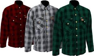 M11 Karo-Cotton Men's Motorcycle Shirt Lumberjack Shirt Aramid Safety Pocket