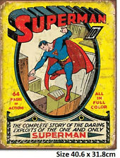 Superman Comic Tin Sign 1968  Made in USA Licensed
